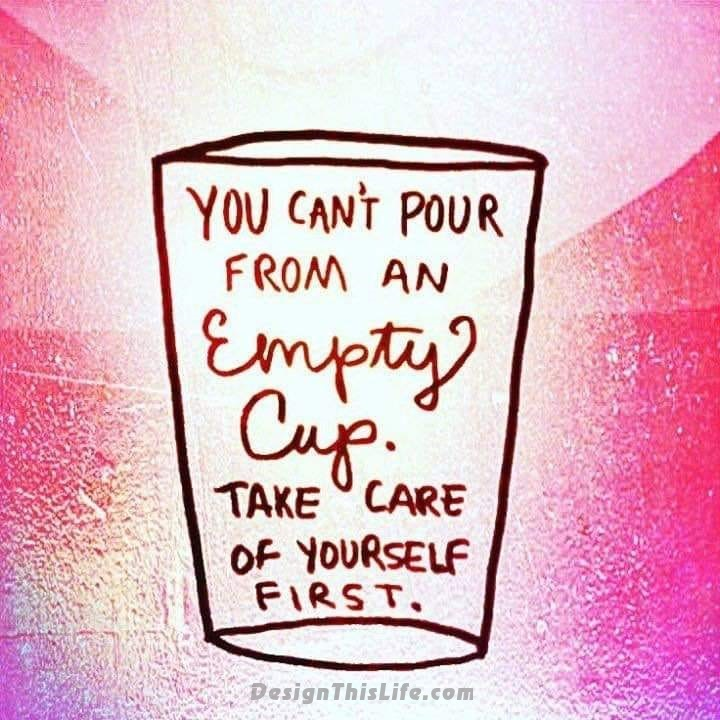 You can't pour from an empty cup.